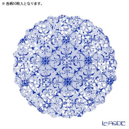 トーキングテーブルズ ミニ★レースペーパー 11cmポーセリンブルー PPB2-MINI-DOILY 100枚入り(2柄各50枚ずつ)