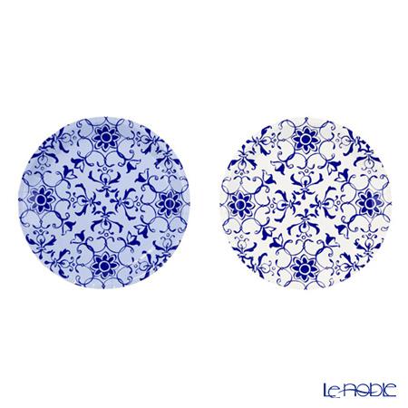 トーキングテーブルズ ミニ★紙皿 13cm 12枚入ポーセリンブルー 2柄各6枚 PPB2-PLATE-CAN