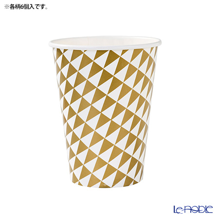 Talking Tables 'Party Time' [Paper] Cup 354ml (set of 12 / 2 patterns)