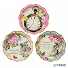 Talking Tables 'Truly Alice' [Paper] Plate 17cm (set of 12 / 3 patterns)