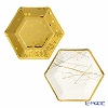 Talking Tables Modern Metallic Party Plates 4-MET-PLATE-HEX