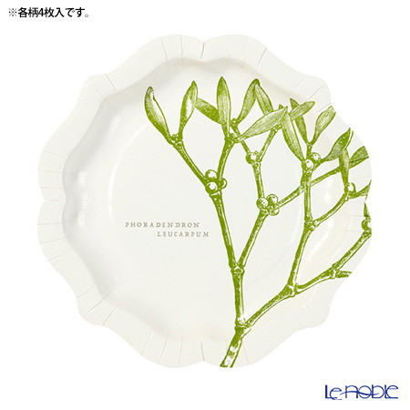 トーキングテーブルズ 紙皿 20cm 12枚入りボタニカルクリスマス BC-PLATE-MED 3柄各4枚