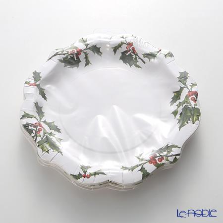 Talking Tables トーキングテーブルズ 紙皿 20cm 12枚入ボタニカルクリスマス BC-PLATE-MED 3柄各4枚