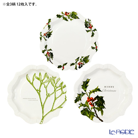 Talking Tables Botanical Christmas Paper Plates BC-PLATE-MED
