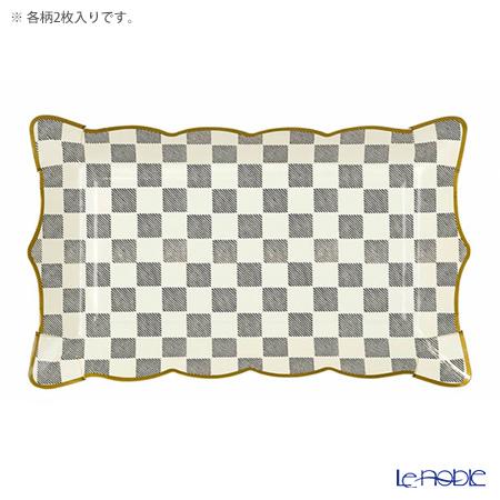 Talking Tables トーキングテーブルズ 紙皿(スクエア) 4枚入アリス TSALICE-PLATTER 2種各2枚
