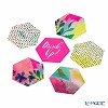 Talking Tables 'Fluroescent' [Paper] Hexagonal Coaster 10cm (set of 12 / 6 patterns)
