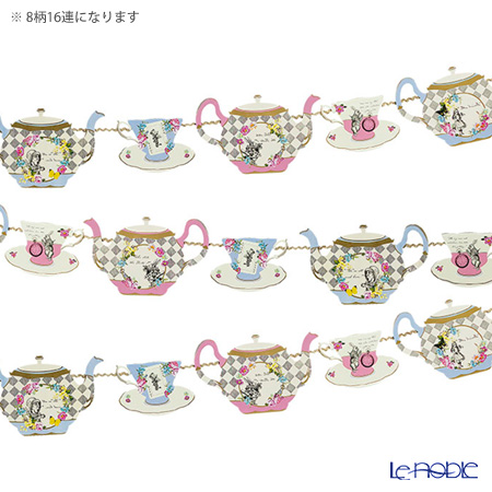 Talking Tables Truly Alice Teapot Bunting TSALICE-BUNTING