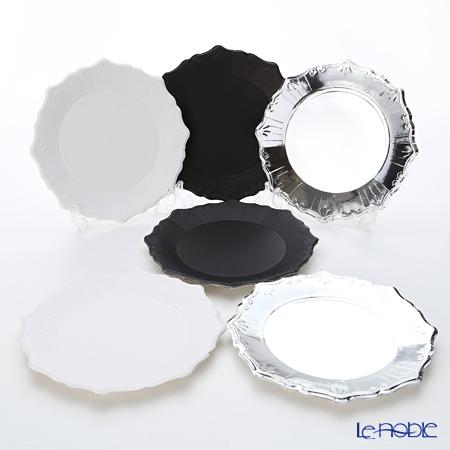 Talking Tables トーキングテーブルズ 紙皿 23cm 12枚入 シルバー・ブラック・ホワイト 3色各4枚 PPS-PLATE-MED