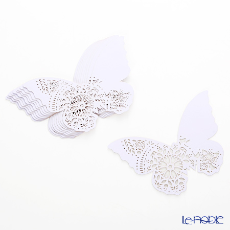 Talking Tables We Heart White Modern Romance 10 Place Card, butterfly WHT-PLACECARD