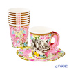 Talking Tables Truly Alice Whimsical Cup & Saucers  (set of 12) TSALICE-CUPSETV2