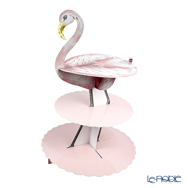 Talking Tables 'Truly Flamingo - Treat Stand' [Paper] 3 Tier Cake Stand H44cm