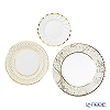Talking Tables Party Porcelain Gold Trio Plate Pack PPG-DCO-PLATE-TRI