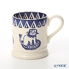 Emma Bridgewater / Earthenware 'Lion / Mary Feeden' Blue Mug 284ml