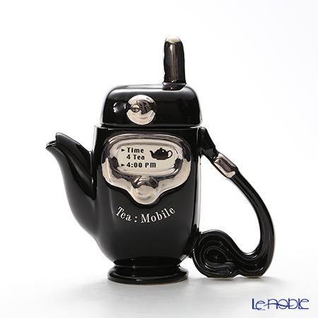 ティーポッタリー Teapottery モバイルフォン(ブラック) 18×17