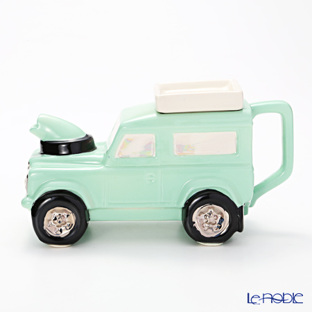Tipottary Teapottery Land Rover (pastel green)14.5 x 19.5 S