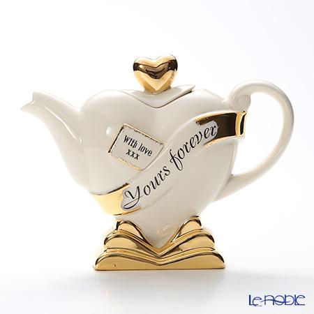 ティーポッタリー TeapotteryハートForever Yours!(ホワイト) S