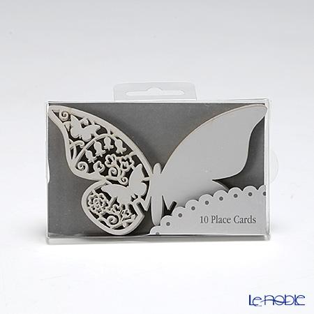トーキングテーブルズ グラス用プレイスカード 10枚入チョウチョ ホワイト S-AIR-PLCARD