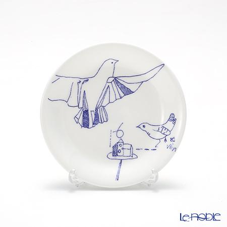 フラックス ストークオントレント Zoo Simple6 ミニプレート 11.8cm(コバルト)