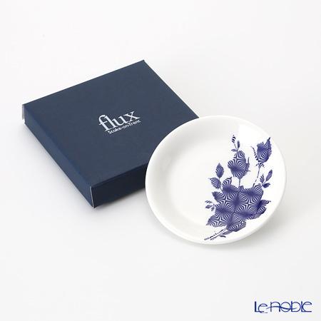 Flux Stoke on Trent 'Geometrix' Cobalt Blue Mini Collectable Plate 11.5cm