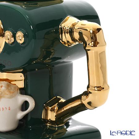 Teapottery 'Single Espresso Coffee Machine' Dark Green Tea Pot (L)