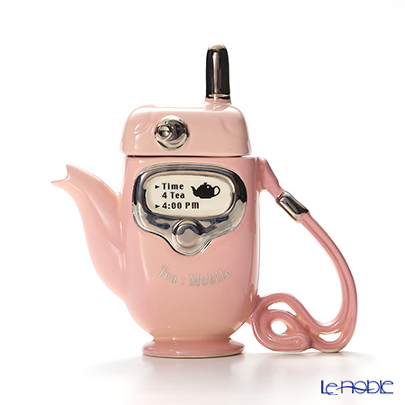 Teapottery 'Mobile Phone' Pink Tea Pot (S)