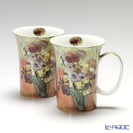 プリモビアンコ アートコレクション マグ ペア ゴッホ 「ローズアンドアネモネ」