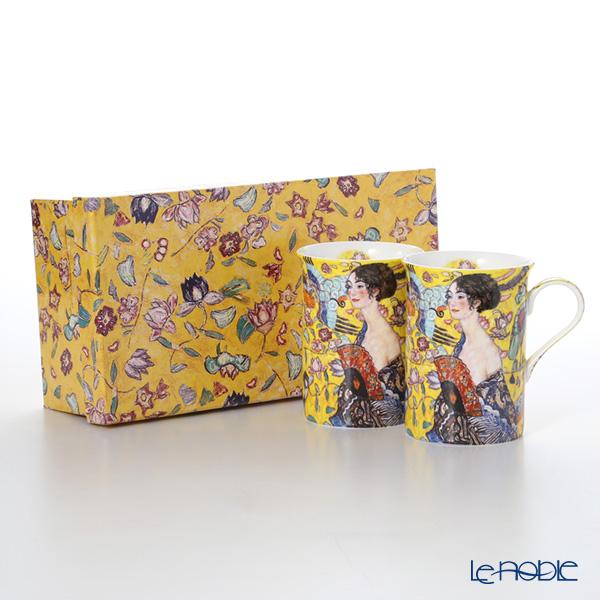 プリモビアンコ アートコレクションマグ ペア クリムト 「扇子を持つ女性」