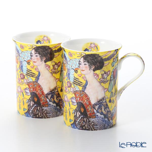 プリモビアンコ アートコレクション マグ ペア クリムト 「扇子を持つ女性」