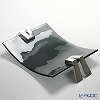 Glassious 'Life' Fume Black LIF-010F Tray with Metal feet 49x32xH10cm