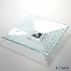 Glassious 'Rain' White RAI-010 Square Object with Metal Base 50xH13cm (L)
