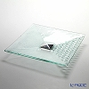 Glassious 'Rain' White RAI-020 Square Object with Metal Base 40xH11cm (M)