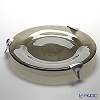 Glassious 'Synthesis' Bronze SYN-010B Tray / Plate with Metal feet 44xH7cm