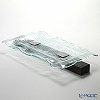 Glassious 'Xyla' White XYL-010 Rectangular Tray with Metal & Wooded base 66x34xH10cm