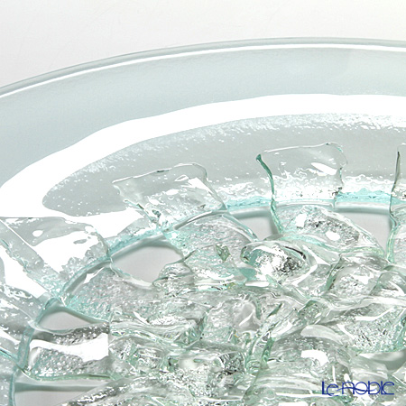 Glassious 'Aphrodite' White AFR-020 Tray with Metal handles 47x45cm