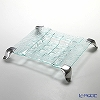 Glassious 'Canvas' White CAN-030 Tray with Metal feet 47xH7cm