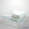 Glassious 'Classic' White CLA-010 Square Tray with Metal & Wooden base 52cm (L)