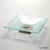 Glassious 'Classic' White CLA-020 Square Tray with Metal & Wooden Base 41cm (M)