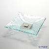 Glassious 'Classic' White CLA-030 Square Tray with Metal & Wooden base 32cm (S)