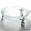 Glassious 'Hera' White HER-010 Bowl with Metal feet 49xH18cm