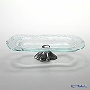 Glassious 'Forest' White FOR-030 Oval Tray with Metal base 41x21xH10cm