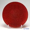 Vetro Felice 'Glitter' Red Plate 35cm