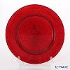 Vetro Felice glitter 323933C Charger plate 33 cm red G003 1/6