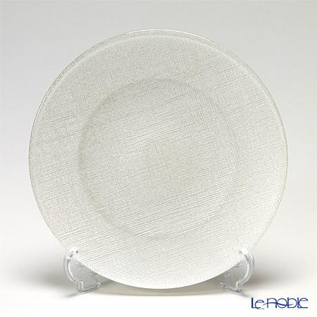 Vetro Felice ヴェトロ フェリーチェ グリッター 323921B プレート 21cm ホワイト G014 4/16