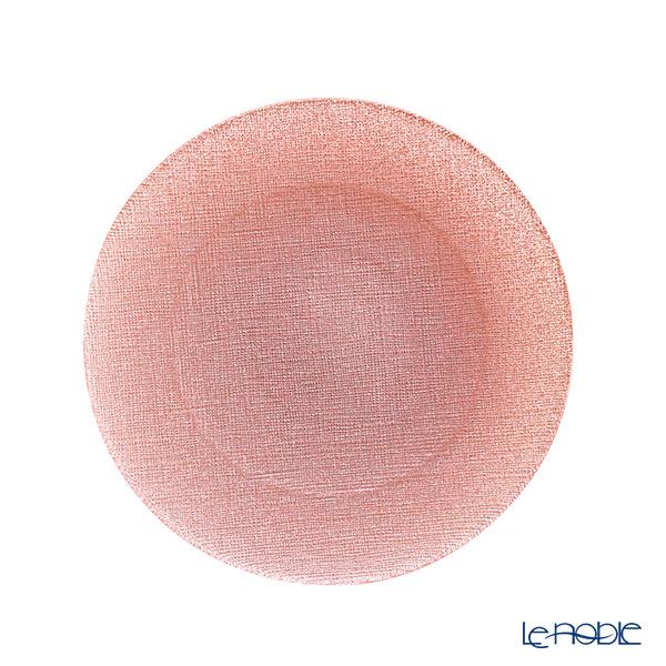 Vetro Felice 'Glitter' Vintage Rose Pink Plate 21cm
