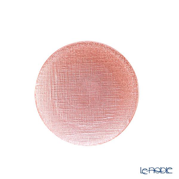 Vetro Felice 'Glitter' Vintage Rose Pink Plate 14cm