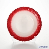 Vetro Felice 'Flash' White Pearl x Red Plate 21.5cm