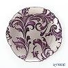 Vetro Felice 'Acanthus' Purple Plate 21cm