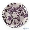 Vetro Felice 'Acanthus' Purple Plate 27.5cm