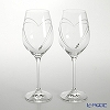 Strass with Swarovski Elements 'Heart in Heart' Wine Glass 360ml (set of 2)