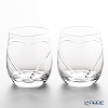 Strass with Swarovski Elements 'Heart in Heart' Old Fashioned Glass 250ml (set of 2)